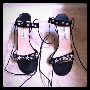 Jimmy Choo star strap heels
